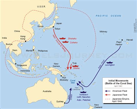coral sea map musings of the meandering murphys battle of the coral sea