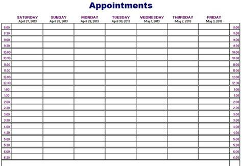 fresh printable appointment calendars printable