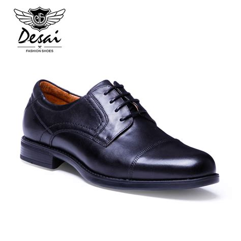 Brand Q Dress Shoes by Desai Classic Style Shoes Brand Handmade Oxfords Shoes Grain Leather Dress