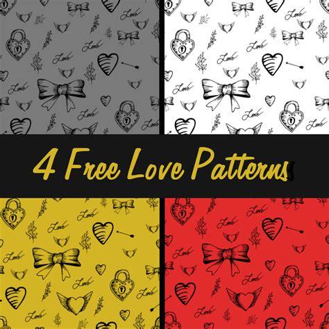 pattern photoshop love 4 free love patterns photoshop patterns