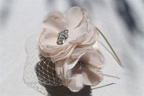 Wedding Hair Flower With Netting by Bridal Blusher Birdcage Veil Netting With Headband