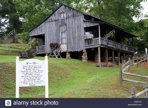 butcher house replica re created butcher holler house home at loretta lynn dude stock photo royalty