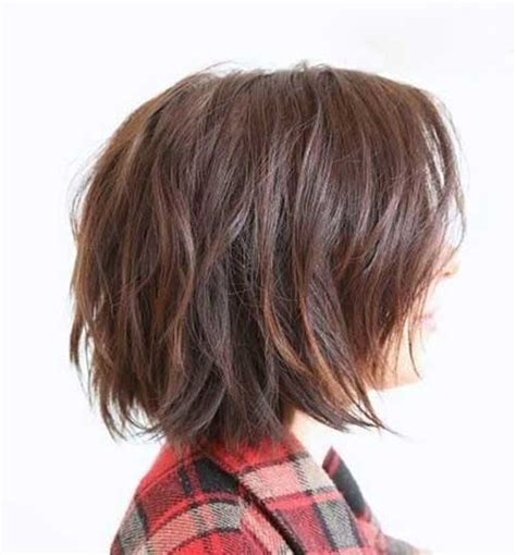 back view of short haircuts 2015 messy layered bob hairstyles the best short hairstyles