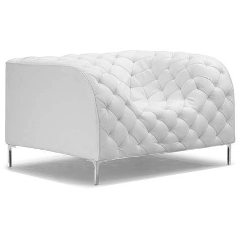 tufted armchair providence tufted armchair chrome steel white dcg stores
