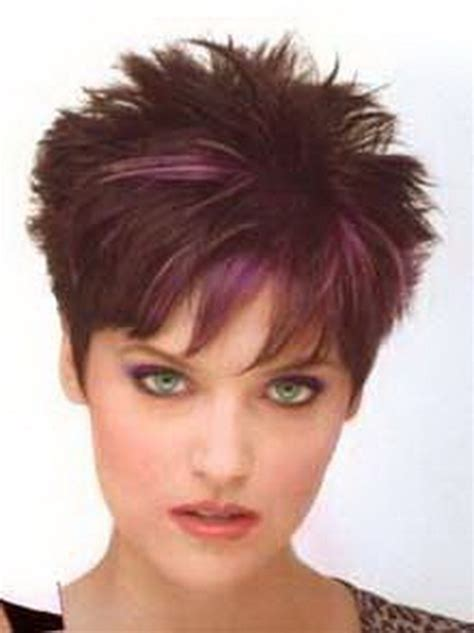 hairstyles that are spiked at the back of the head pictures of short haircuts for women over 50 front and