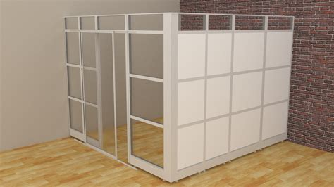 Modular Room Divider Room Dividers Glass Walls Cubicle Panels Modular Office Cubicles 10 Lx10 Wx8 H From 4 704 48 In