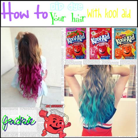 how to wash dyed hair without losing color how to dip dye your hair in kool aid polyvore