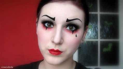 makeup tutorial video lena lednicka pierrot the clown makeup tutorial