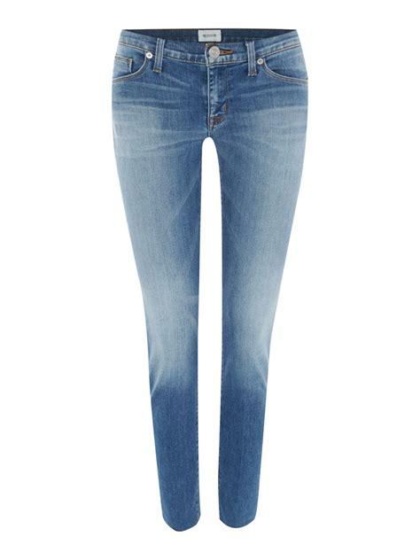 super light wash jeans hudson krista light wash super skinny crop jean in blue