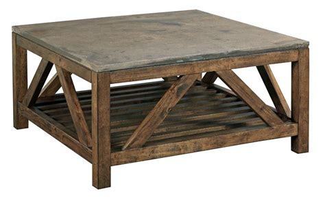 Industrial Square Coffee Table Industrial Rustic Square Cocktail Table With Finished Concrete Top