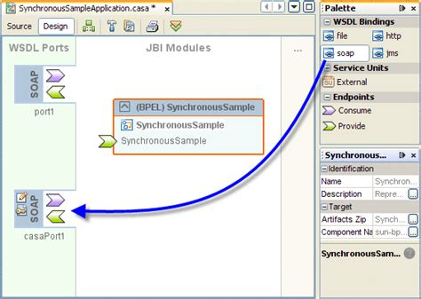 wsdl binding start guide to the casa editor