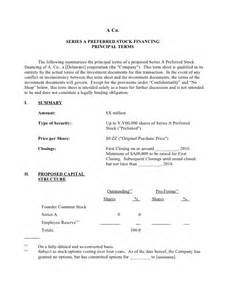 Venture Capital Term Sheet Template by The Holy Grail Of Entrepreneurship The Term Sheet Part 1
