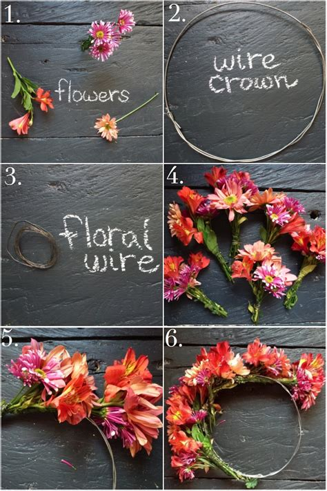 How To Make A Flower Crown Out Of Paper - diy flower crown uxibal