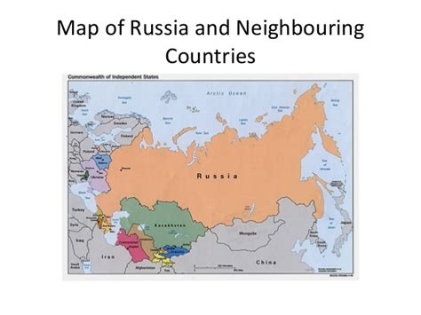 russia map and surrounding countries russia and neighbouring countries