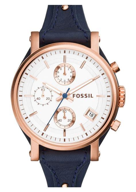 Fossil Gold On Sale Original fossil fossil original boyfriend chronograph leather