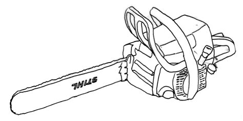 Chainsaw Coloring Pages free coloring pages of chainsaw