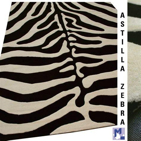 kuhfell teppich zebra tierfell muster teppich handtuft zebra 08 creme schwarz