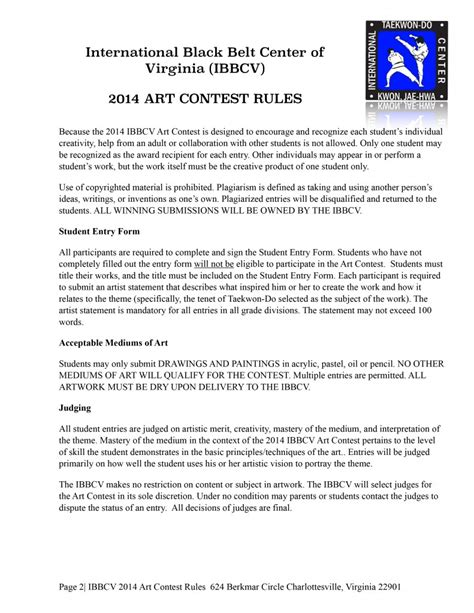 contest rules template images templates design ideas