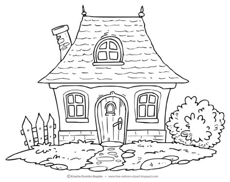 picture of a cartoon house kids coloring europe travel free cartoon illustrations clipart no watermark images