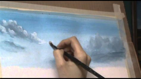 acrylic painting sky tutorial how to paint fluffy clouds 2 acrylic painting