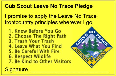 Scout Pledge Leave No Trace For The Boy Scout Utah National