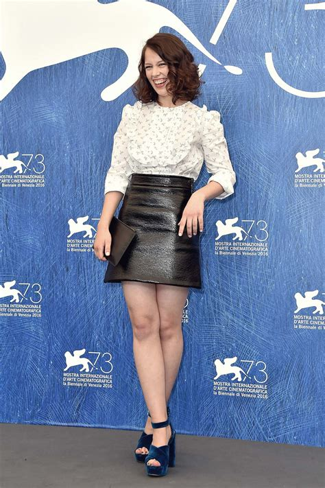 paula beer attends   venice film festival leather