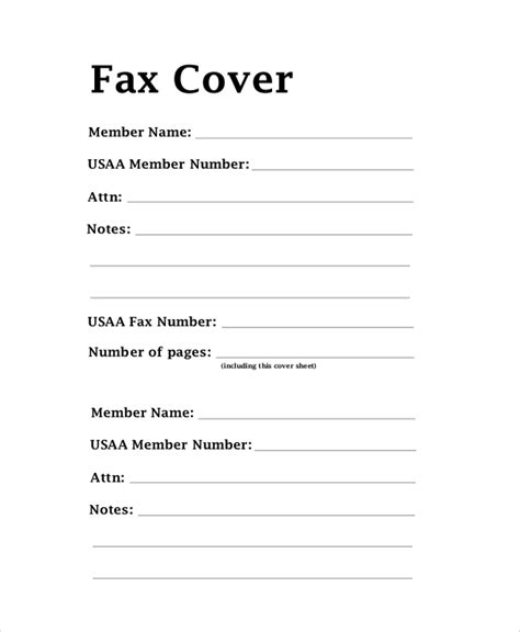 fax cover letter format sle fax cover letter 7 documents in pdf word