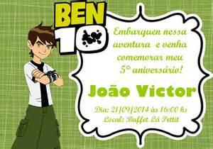 convite de aniversario do ben 10