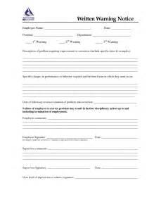 Employee Written Warning Template by Best Photos Of Sle Written Warning Form Sle