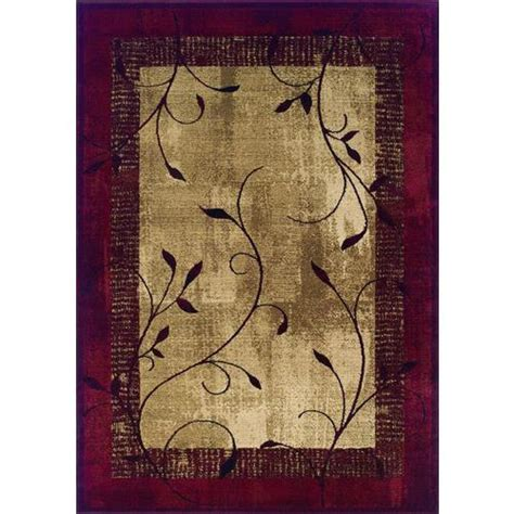 Lowes Accent Rugs | allen roth round rectangular red tinsley accent rug