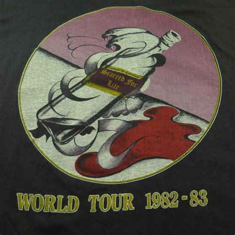 rose tattoo tour history vintage 80s rose tattoo band t shirt mens l scarred for