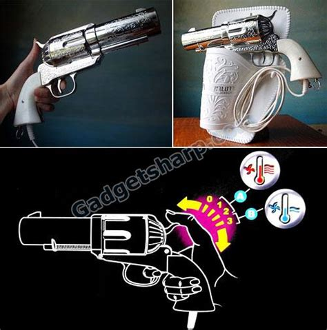 Handgun Hair Dryer 19 gun shaped products design gadget sharp