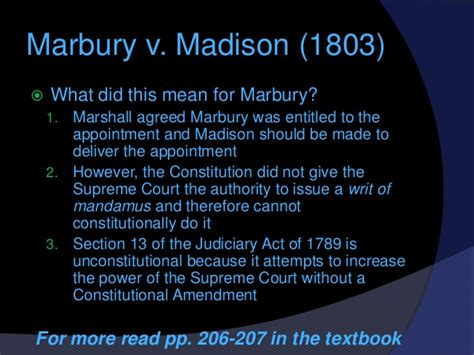 judiciary act of 1789 section 13 the marshall court