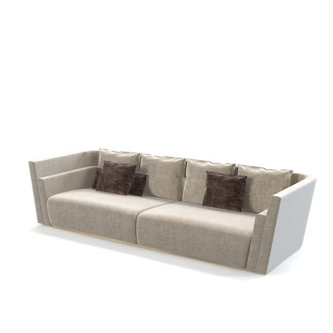fendi sofa fendi borromini sofa 3d model