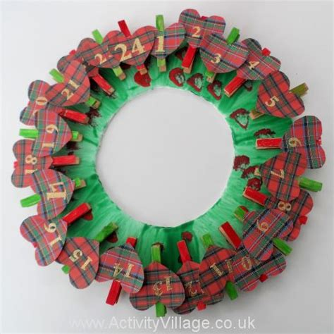 Handmade Advent Wreath - advent calendar with creative activities for
