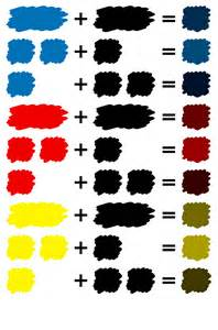 is black a primary color mixed colors of paint iro color