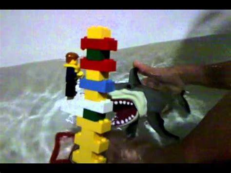 lego boat sinking videos lego jaws sinking boat youtube