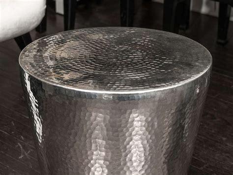 hammered metal side table hammered metal side table at 1stdibs
