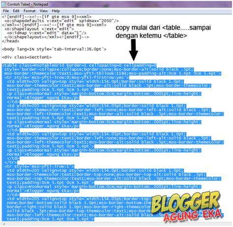 cara membuat tabel di postingan blog dengan microsoft cara membuat tabel di postingan blog dengan microsoft word
