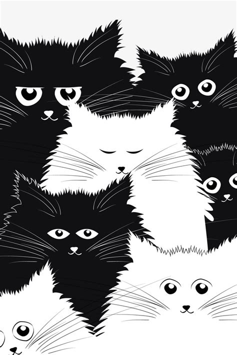 imágenes en blanco y negro gratis dibujos animados de gato blanco y negro blanco y negro