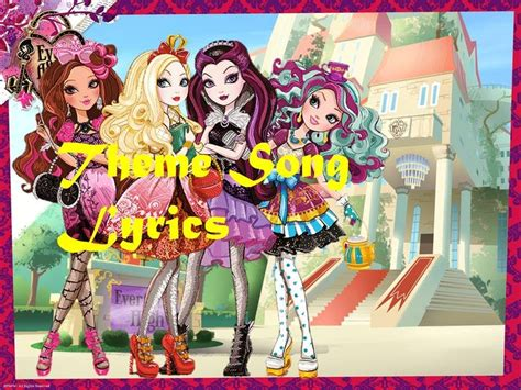 theme songs ever after high ever after high theme song lyrics hd youtube