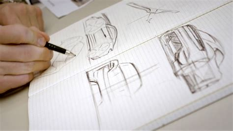 Porsche Mission E Sketches by Porsche Mission E Concept Design Sketching Car Design