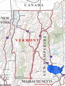 us map vermont state vermont maps