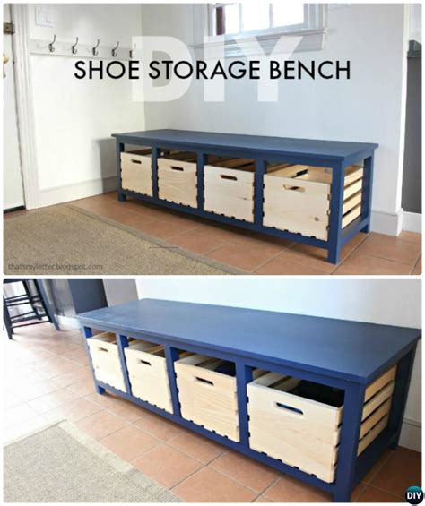 diy entryway bench with storage 20 best entryway bench diy ideas projects picture