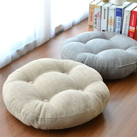 futon floor cushion aliexpress com buy linen futon thickening circle large