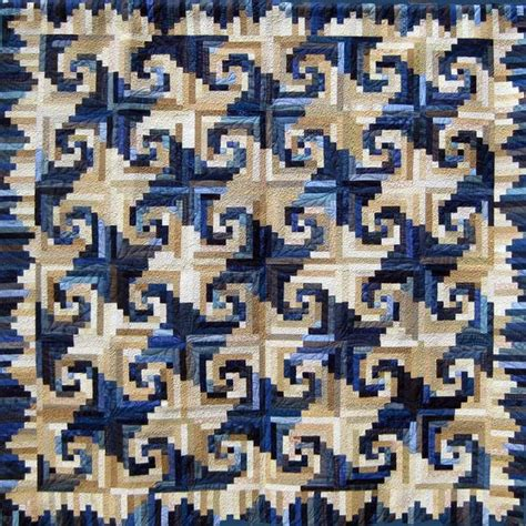Size Log Cabin Quilt Pattern by Blue And White Quilt Shenandoah Log Cabin Designed By