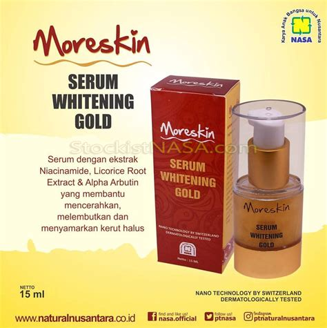 Berapa Whitening Serum Gold moreskin serum whitening gold nasa
