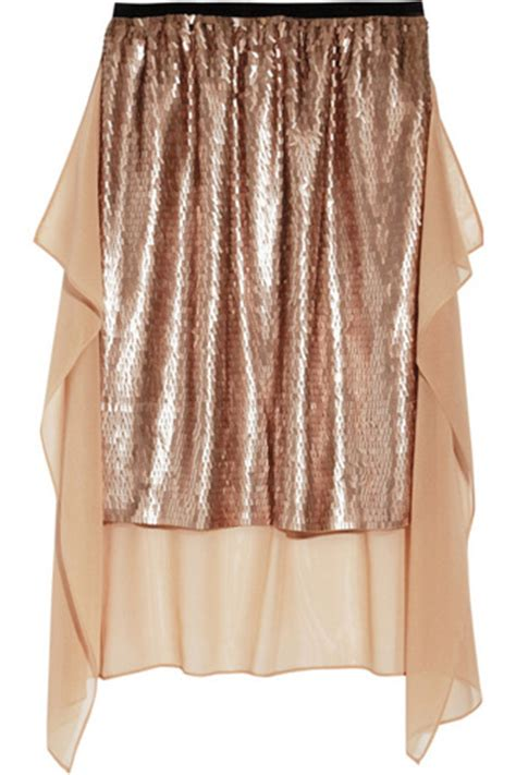2 Die 4 Marc By Marc Blazing Skirt by Dkny Sequined Stretch Silk Skirt 8 Stunning Statement