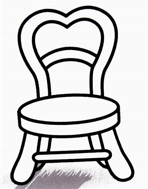 dessin de chaise coloriage chaise