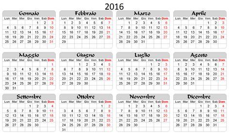 Calendario E Giorni Festivi 2016 Calendario Calendario 2016 Con Ponti E Festivit 224